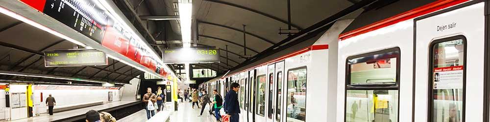 Barcelona Sehenswürdigkeiten Karte.öffentliche Verkehrsmittel Metro Barcelona